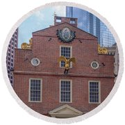 22- Matt V. Group At The Old State House In Boston, Massachusetts On August 26, 2016 Round Beach Towel