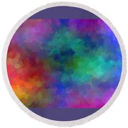 Matter And Space Round Beach Towel