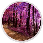 Matthiessen State Park Trail False Color Infrared No 2 Round Beach Towel