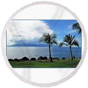 Maui Clouds Round Beach Towel