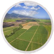 Maui Farmland Round Beach Towel