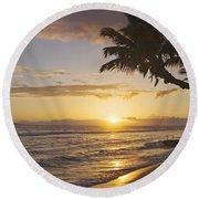Maui, Kaanapali Beach Round Beach Towel