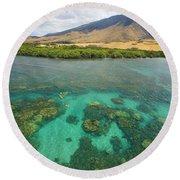 Maui Landscape Round Beach Towel