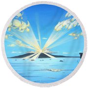 Maui Magic Round Beach Towel