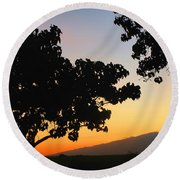 Maui Road Sunset Round Beach Towel