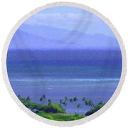 Maui View Round Beach Towel
