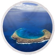 Maui, View Of Islands Round Beach Towel