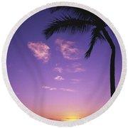 Maui, Wailea, Sunset Round Beach Towel