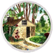 Maui Winery Round Beach Towel