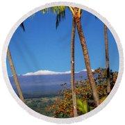 Mauna Kea  Round Beach Towel
