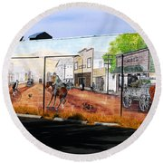 Maupin 1921 Mural Round Beach Towel
