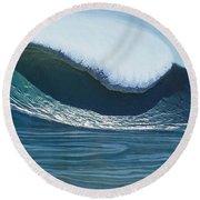 Mavericks Round Beach Towel by Nathan Ledyard