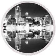 Maxed Cityscape Round Beach Towel