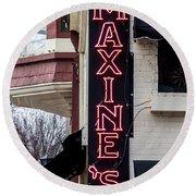 Maxine's Saloon Round Beach Towel