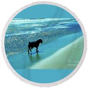 Maxwell On The Beach Round Beach Towel