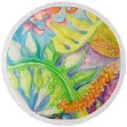 May Day Is Lei Day Round Beach Towel