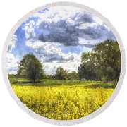 May Farm Art Round Beach Towel