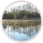 May Morning Mississippi River Round Beach Towel