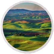 May On The Palouse  Round Beach Towel