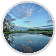 May Reflections Round Beach Towel