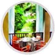 Maya Sari Mas Round Beach Towel