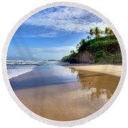 Mayaro Beach Trinidad Round Beach Towel