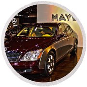 Maybach Limo Round Beach Towel