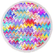 Mayhem Round Beach Towel