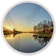 Maynes Grove Spring Rise 2 Round Beach Towel