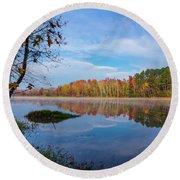 Mayor's Pond, Autumn, #1 Round Beach Towel