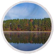 Mayor's Pond, Autumn, #3 Round Beach Towel