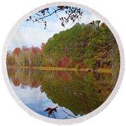 Mayor's Pond, Autumn, #7 Round Beach Towel