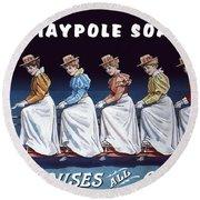 Maypole Soap Retro Vintage Ad 1890's Round Beach Towel