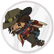 Mccree Usa Round Beach Towel