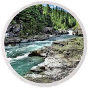 Mcdonald Creek 2 Round Beach Towel