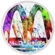Mcdonalds Round Beach Towel