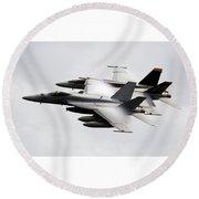 Mcdonnell Douglas F/a-18 Hornet Round Beach Towel
