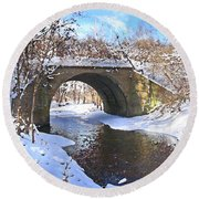 Mcgowan Bridge Round Beach Towel