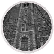 Mcgraw Hall - Bw Round Beach Towel
