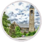 Mcgraw Tower Cornell University Ithaca New York Pa 10 Round Beach Towel