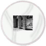 Mcintosh Sugar Mill Tabby Ruins 1825  Round Beach Towel