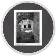 Mcintosh Sugar Mill Tabby Ruins Arch Round Beach Towel