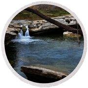 Mckinney Falls State Park-upper Falls 6 Round Beach Towel