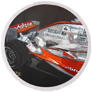 Mclaren F1 Alonso Round Beach Towel