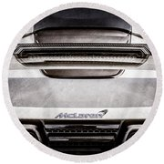 Mclaren Mp4 12c Rear View -0668ac Round Beach Towel