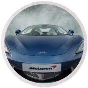 Mclaren Sports Car Round Beach Towel