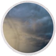 Mcluvn Nebraska Thunderstorms 047 Round Beach Towel