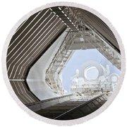 Mcmath-pierce Solar Observatory Round Beach Towel