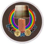 Mconomy Rainbow Brick Lamp Round Beach Towel
