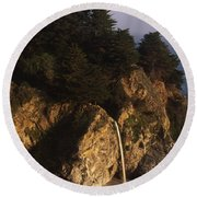 Mcway Falls Round Beach Towel